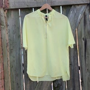 Marc Cain yellow blouse with zip detail